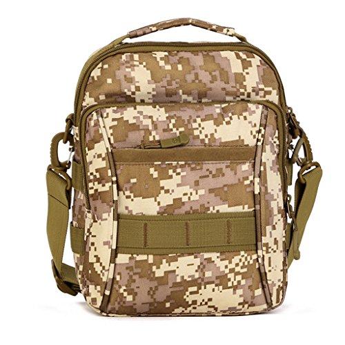 cinmaul Military Tactical MOLLE Tasche Schulter Nachricht Tasche Pack Gear Messenger Schulter Satteltasche Mehrfarbig - Desert Camouflage