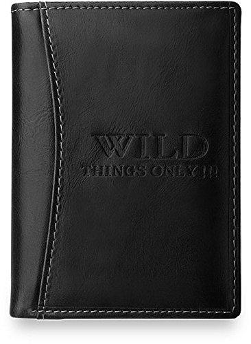 elegante Geldbörse für Herren WILD ONLY 100% Leder Brieftasche (schwarz) schwarz