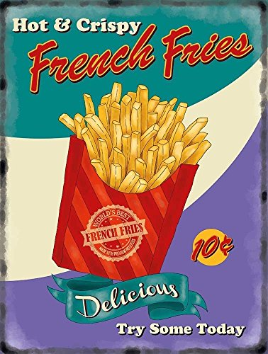 hot-knusprige-pommes-frites-in-rot-karton-retro-lebensmittel-old-vintage-werbung-zeichen-fur-kuche-b