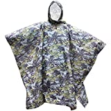 Generic Waterproof Bionic Raincoat Poncho Hunting Camping Hiking Camouflage Yellow