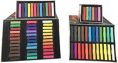 Bonvie.shop Haar Kreide Haarfarb Haarkreide Färben Haartönung 6 12 24 36 Farben Hair Chalks, Set:6 Farben