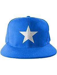 Officiellement Marchandises Sous Licence Captain America Star Taille Ajustable Snapback Casquette (Bleu)