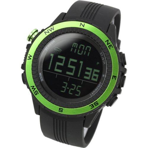 Lad Weather Sportivo orologio Altimetro Barometro Bussola Termometro Previsioni del tempo Sport all'Aperto Escursionismo Campeggio Alpinismo (Verde/Nero)