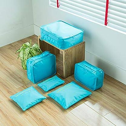 Kono-Reisetasche-Set-6-Teilig-Koffer-Organizer-Taschen-Kleidung-Speicherbeutel-fr-Schuhe-Unterwsche-Kosmetik
