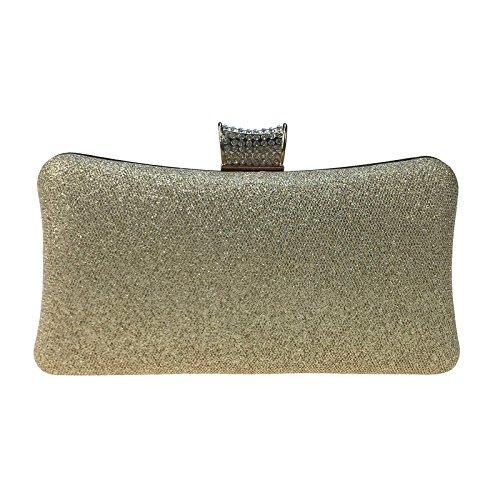Diamant Diamanten Perlen Yanbao kleine mesh Abend Tasche Leder Kette weiblichen Tasche Golden