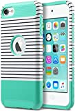 iPod Touch 5 Case, ULAK iPod Touch 6 Case Dual Layer Hybrid Hard PC + TPU Protective Case Cover for Apple iPod touch 5th/6th Generation(Mint/White)