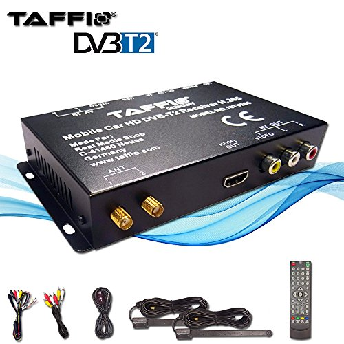 TAFFIO® Universal KFZ Auto DVB-T2 H.265 HD Digital Receiver MPEG2/4 240 km/h TV Empfang (Tv-tuner Autoradio)
