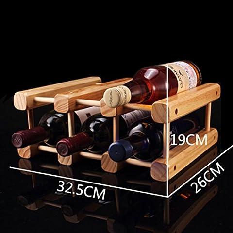 botellero de madera/estante del vino creativo/pino Decoración/muebles de estilo-D