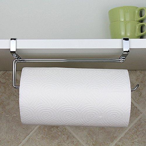 Papier Handtuchhalter Kleiderbügel, Edelstahl unter Schrank Tür Regal Tissue Rolle Papier Handtuch Rack Spender Aufbewahrung Organizer ohne Bohren