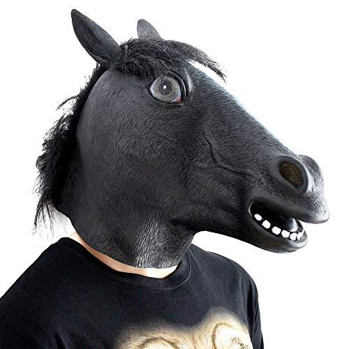 Zdmathe Pferdekopf Maske Reiter Halloween Latex Maske Tier Maske Für Pferdekostüm
