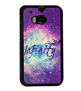 Infinity 2D Hard Polycarbonate Designer Back Case Cover for HTC One M8 :: HTC M8 :: HTC One M8 Eye :: HTC One M8 Dual Sim :: HTC One M8s