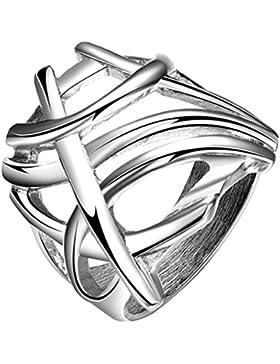 PAURO Männer Edelstahl Silber No Rules Personal Vintage Punk Style Biker Ring