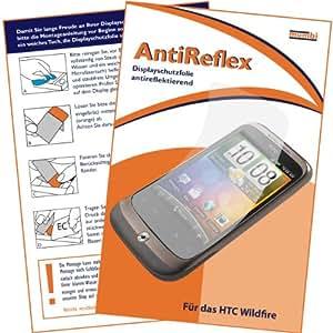 """mumbi Displayschutzfolie HTC Wildfire Displayschutz """"AntiReflex"""" antireflektierend!"""