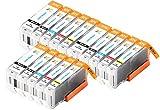 Ink Maxx pacchetto di 15 cartucce d'inchiostro PGI-570XL per Canon Pixma MG 5700 MG 5750 MG 5751 MG 5752 MG 5753 MG 6800 MG 6850 MG 6851 MG 6852 MG 6853 TS 5050 TS 5051 TS 5053 TS 5055 TS 6050 T