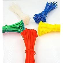 DIKETE® 500pcs colorati nylon Fascette Heavy Duty