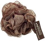 Large Fleur de Douche Exfoliante Couleur Crème et Chocolat de Qualité Supérieure...