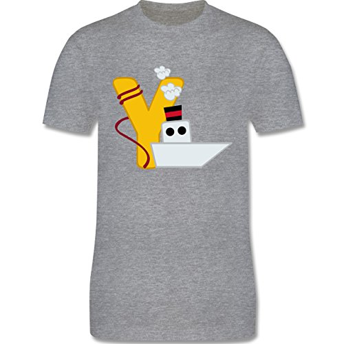 Anfangsbuchstaben - Y Schifffahrt - Herren Premium T-Shirt Grau Meliert