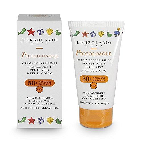 L'Erbolario PICCOLOSOLE Sonnencreme für Kinder-Gesicht & Körper LSF50+ , 1er Pack (1 x 75 ml)