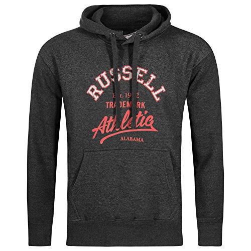 Alabama Sweatshirt (RUSSELL ATHLETIC Alabama Herren Hoody Kapuzen Sweatshirt dunkelgrau FW16PON033)