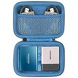 co2CREA Hart Reise Schutz Hülle Etui Tasche für Samsung Portable SSD T3 T5 250GB /500GB /1TB /2TB External Solid State Drive (blau/Für 2 SSD)