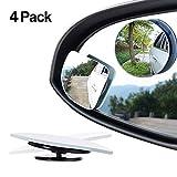 Specchietti retrovisori regolabili e inclinabili, 5,1cm, rotabili di 360°, vetro convesso di alta qualità, per auto, camion e SUV, confezione da 4