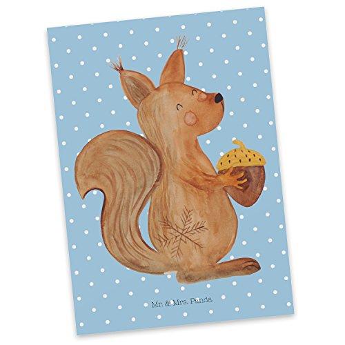 Mr. & Mrs. Panda Postkarte Eichhörnchen Weihnachten - 100% handmade in Norddeutschland - Grußkarte, Neujahr, Geschenkkarte, Guten Rutsch, Weihnachtsmotiv, Weihnachtsgruß, Postkarte, Frohe Weihnachten, Karte, Vogel, Pappe, Einladung Frohe Weihnachten Karten