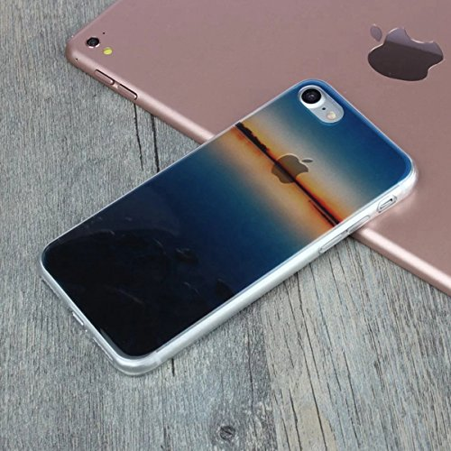 MOONCASE iPhone 7 Coque, Ultra Mince Motif Etui TPU Silicone Antichoc Housse Case pour iPhone 7 (Paysage 18) Paysage 08