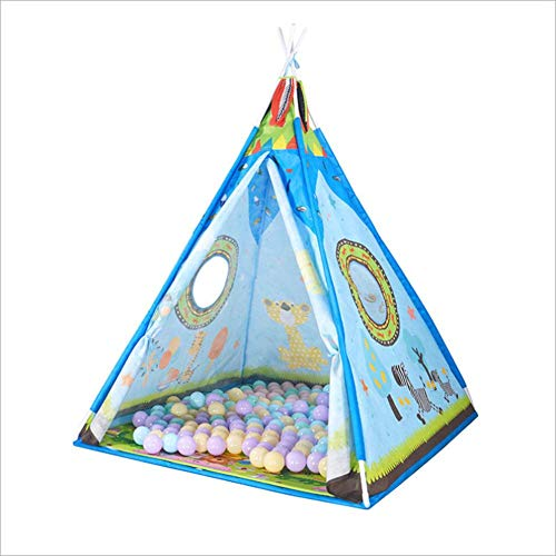 szseven Kids Teepee Triangle Tent Play House Niños Juego al Aire Libre Juego Carpas Portátil Estuche portátil de Lona para niños y niñas