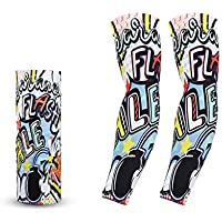 CAO-FU Art Arm UV Mangas Cubierta para Unisex Party Cool Man Arte Graffiti Mujer Moda Tatuajes Y Cuerpo Arte Protector Solar Temporal Cubierta (Color : E)