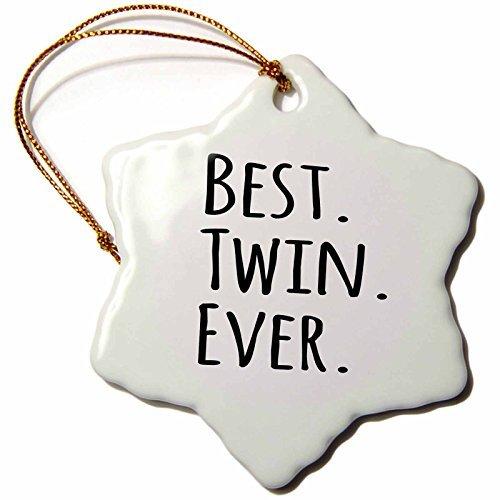 cwb2jcwb2jcwb2j Zoll-Porzellan Schneeflocke dekorative, Sonnenspirale, Best Twin Ever Geschenke für Twin Brüder oder Schwestern (Twin Schwester Geschenke)