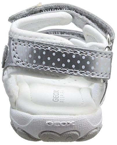 Geox B Sand Cuore D, Sandales bébé fille Argent (Silver)