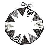 Letech 12 Wimpelkette Stoffgirlande zur Deko für Kinderzimmer (Schwarz / Weiß)