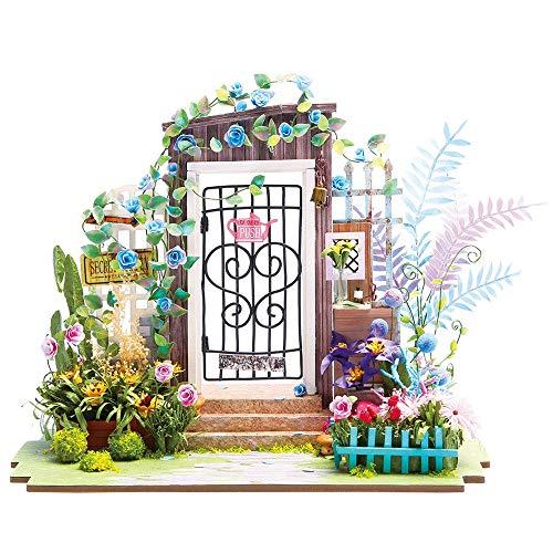 DIY Holz Miniatur Puppen Haus,Handwerk Garten Miniatur Modell Kits,Kreative Geburtstag Teens und Erwachsene (Garden Entrance) - Erwachsenen-modell-kits