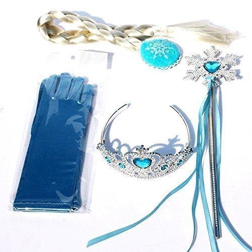 Inception pro infinite 4 accessori - costume - carnevale - halloween - frozen - elsa - treccia - bacchetta - corona - guanti