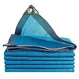 LSXIAO-Filet De Camouflage Filet D'ombrage Couverture De Piscine Crème Solaire Imperméable Boucle en Aluminium Installations De Patio Extérieur, 34 Tailles (Color : Blue, Size : 4x9m)...
