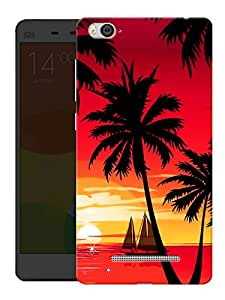 "Humor Gang Sunset And Coconut Trees Printed Designer Mobile Back Cover For ""Xiaomi Redmi Mi 4C"" (3D, Matte Finish, Premium Quality, Protective Snap On Slim Hard Phone Case, Multi Color)"