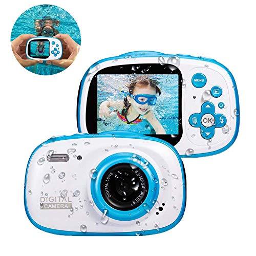 FXQIN 2 Zoll wasserdichte Digitalkamera für Kinder, 32 GB Speicherkarte enthalten, MP3 / MP4 Funktion, Digitale Video-Camcorder-Spielzeugkamera wiederaufladbar, blau