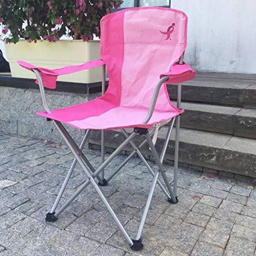 WRZHRXXH Falten Camping Stuhl Im Freien Strand Tragbar Hocker Fischen Freizeit Stuhl Skizzieren Malerei Camping Wild Barbecue Mond Stuhl-Pink