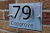 GOS03N - Número de casa personalizado (acrílico y aluminio cepillado)