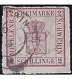 Goldhahn Mecklenburg-Schwerin Nr. 6 a gestempelt Geprüft Briefmarken für Sammler