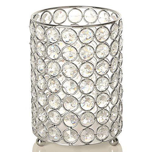 Vincigant portacandele in argento, metallo. usa come decorazione per centrotavola per feste di compleanno, decorazioni per la casa, decorazioni per la festa della mamma/pasqua