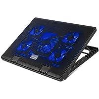 MVPOWER Base de Refrigeración para Portátil Radiador de Laptop con 5 Ventiladores 2 Puertos USB (12-17 Pulgadas)