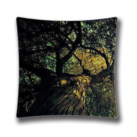 Zipper Design Bosque Throw Pillowcase, 18x18 inches Pillow Sham (Twin sides) AnasaC29814