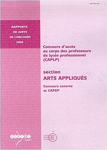 CAPLP section Arts appliqués : Concours externe et CAFEP