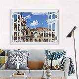 Zyzdsd Coliseo 3D False Window Decal Landmark Romano Pegatinas De Pared Calcomanías Roma Poster Parede Home Decor Sticker
