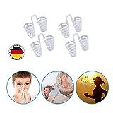 Schnarchspirale Made in Germany 4er Set, Weitung der Nasenlöcher, Verbesserung der Luftzufuhr, Anwendung bei Schnarchgeräuschen | Atmungshilfe | Schnarchzapfen