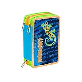 ASTUCCIO scuola SEVEN – GECKO BOY – 3 scomparti – pennarelli matite gomma ecc.. Blu