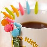 Dasuke 6pezzi in silicone Tea Bag supporti per tazze da tè titolari riutilizzabili a forma di lumaca