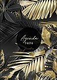 Agenda 2020 Journalier A4: 2 Pages par Jour Agenda Journal 2020 - Grand Format Din A4 - 21x29,7 cm -  Janvier à Décembre 2020 -  Motif Feuille de Palmier Tropical or et Noir