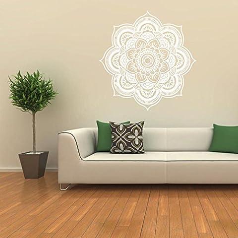 Wandaufkleber, Huihong Mandala Blume Indische Wandabziehbild Kunst Aufkleber Wandmalerei Vinyl Vinyl FüR Schlafzimmer / Wohnzimmer / Esszimmer (Color-D)